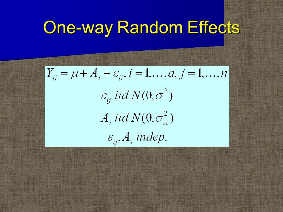 One-way Random Effects