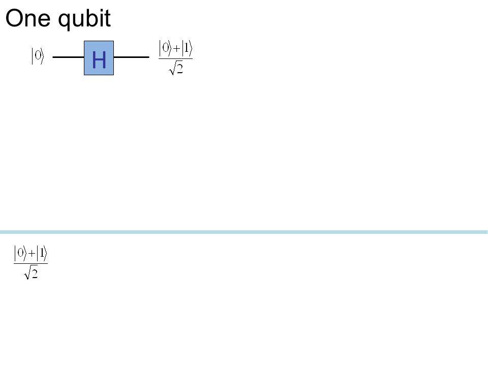 One qubit H