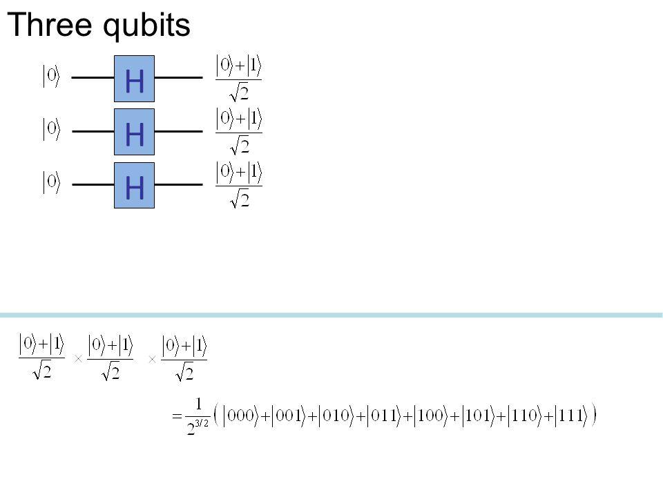 HHH Three qubits