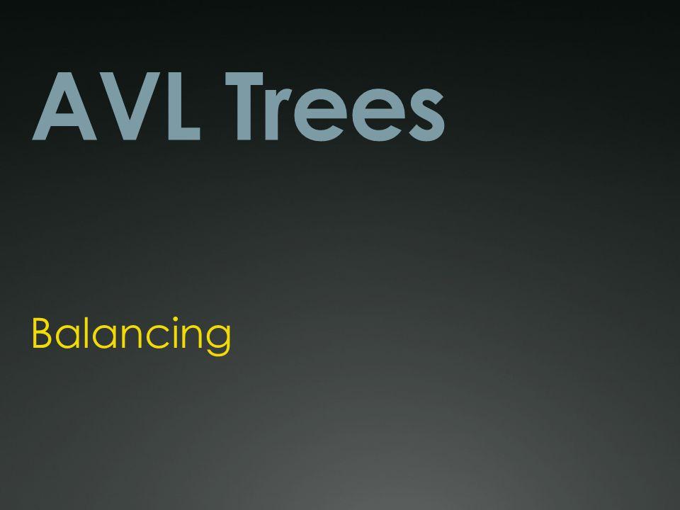AVL Trees Balancing