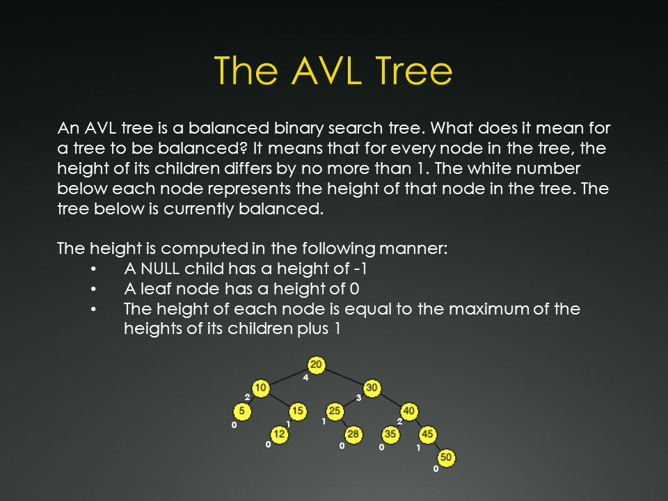 Correcting Imbalances Adding to and removing from an AVL tree can create imbalances between nodes.