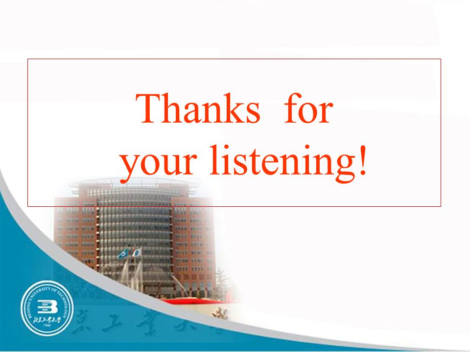 Thanks for your listening!
