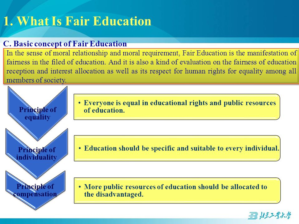 1. What Is Fair Education C.