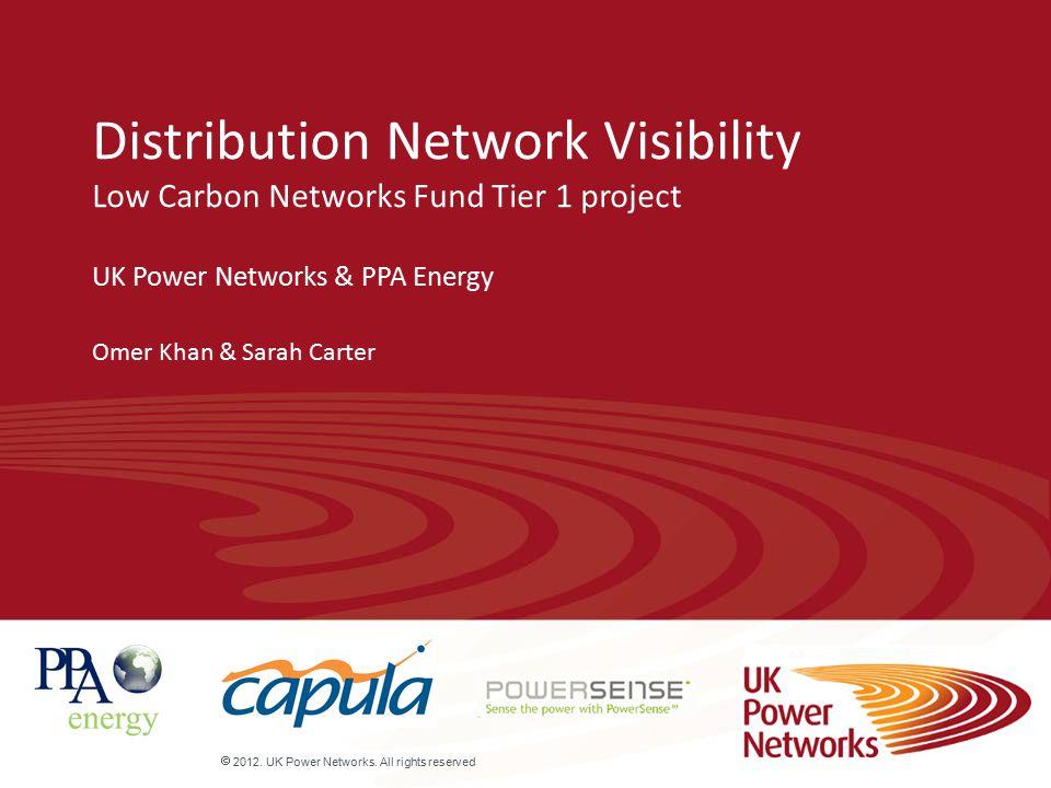  2012.UK Power Networks.