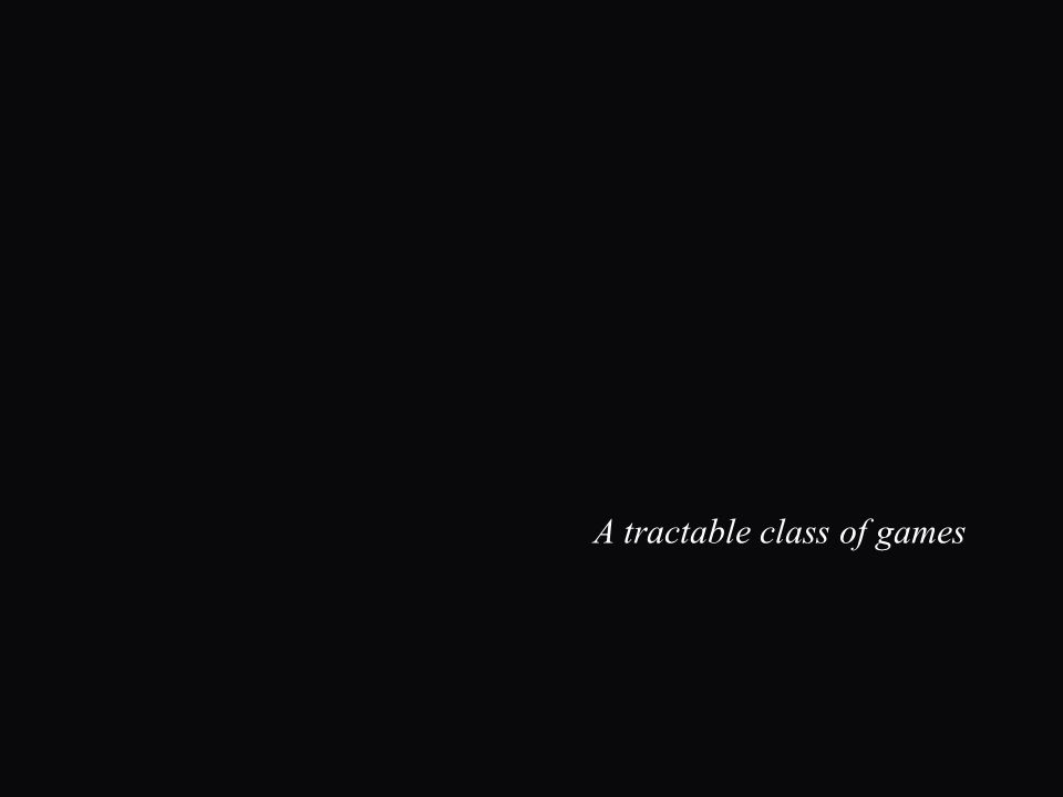 A tractable class of games