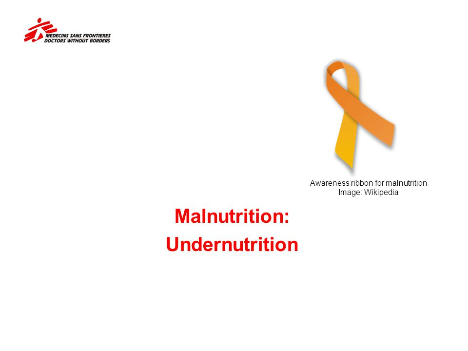 Malnutrition: Undernutrition Awareness ribbon for malnutrition Image: Wikipedia