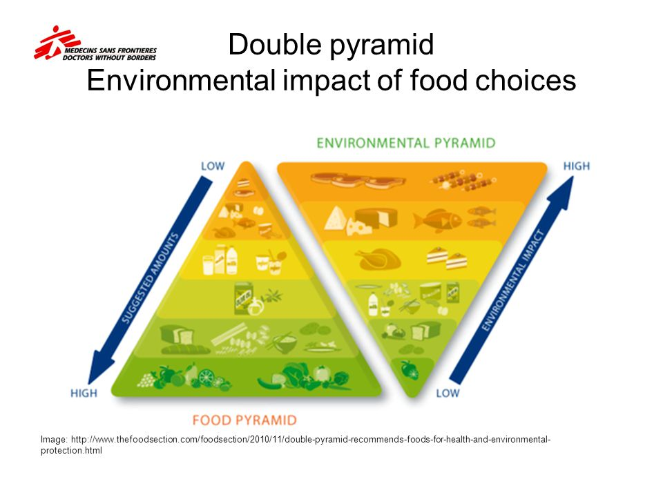 Double pyramid Environmental impact of food choices Image: http://www.thefoodsection.com/foodsection/2010/11/double-pyramid-recommends-foods-for-healt