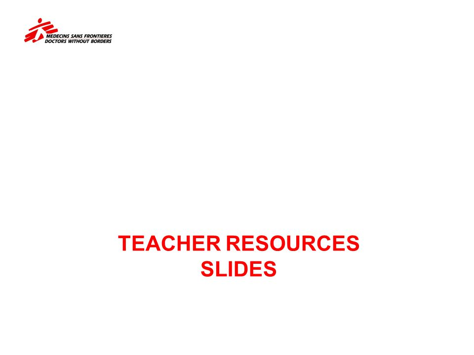 TEACHER RESOURCES SLIDES