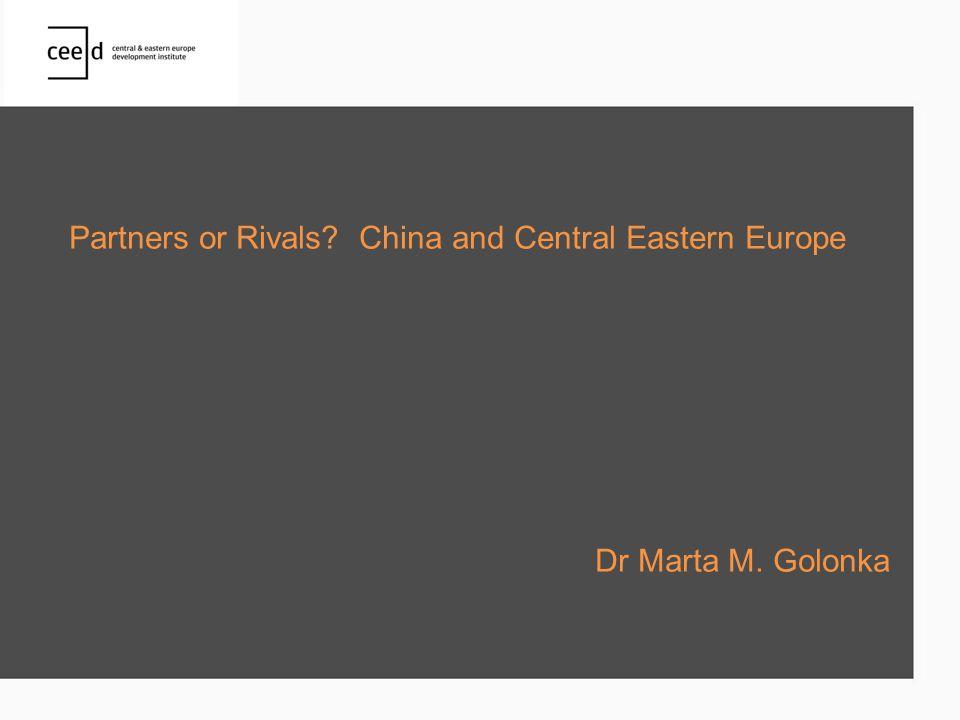 China's main outward FDI stock in the CEE region, 2006&2010, millions of US$ 12