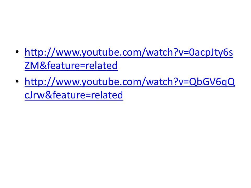 http://www.youtube.com/watch v=0acpJty6s ZM&feature=related http://www.youtube.com/watch v=0acpJty6s ZM&feature=related http://www.youtube.com/watch v=QbGV6qQ cJrw&feature=related http://www.youtube.com/watch v=QbGV6qQ cJrw&feature=related