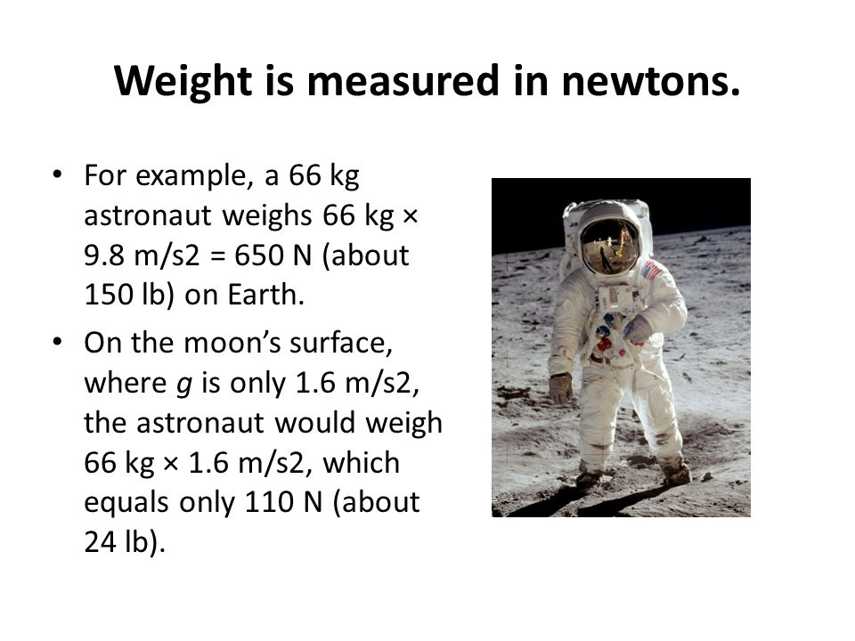 Weight is measured in newtons.