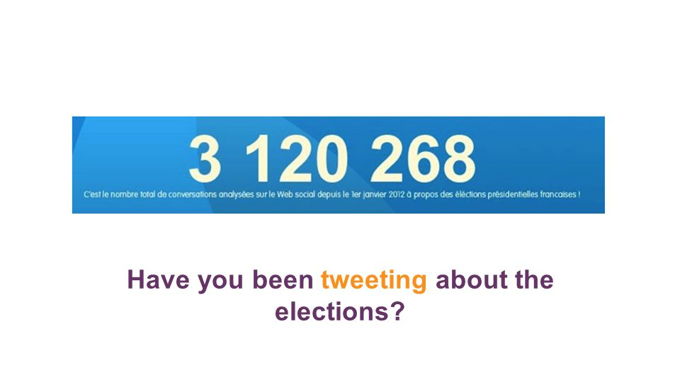 Have you been tweeting about the elections