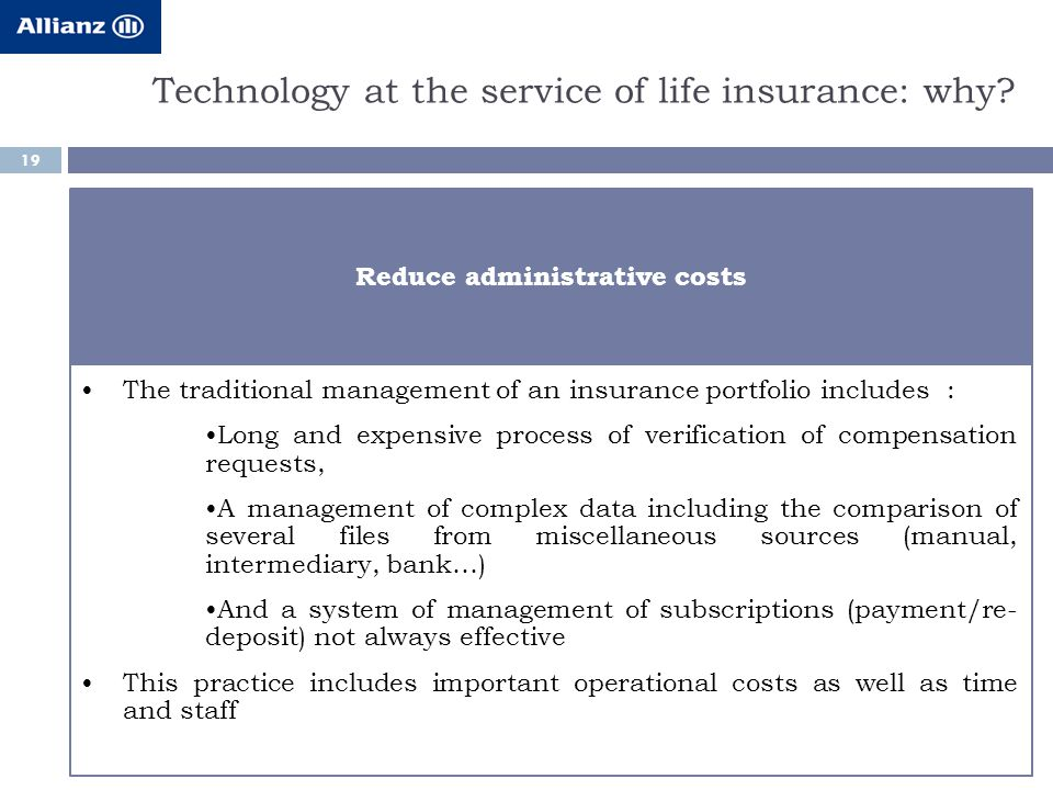 Technology at the service of life insurance: why.