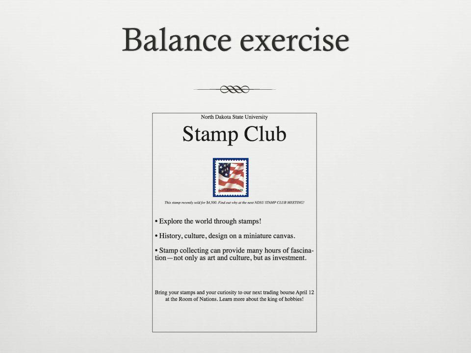 Balance exerciseBalance exercise