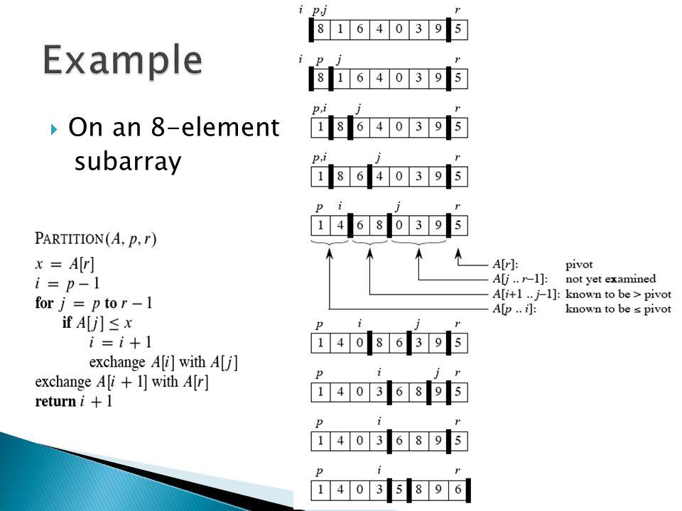  On an 8-element subarray