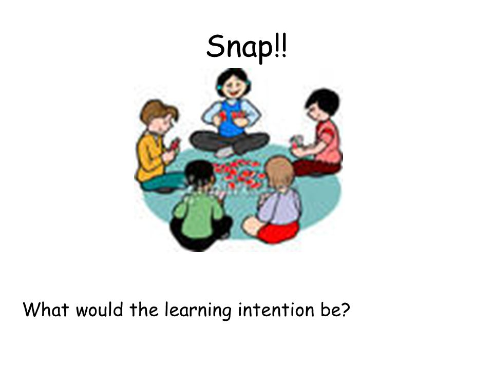 Snap!! What would the learning intention be?
