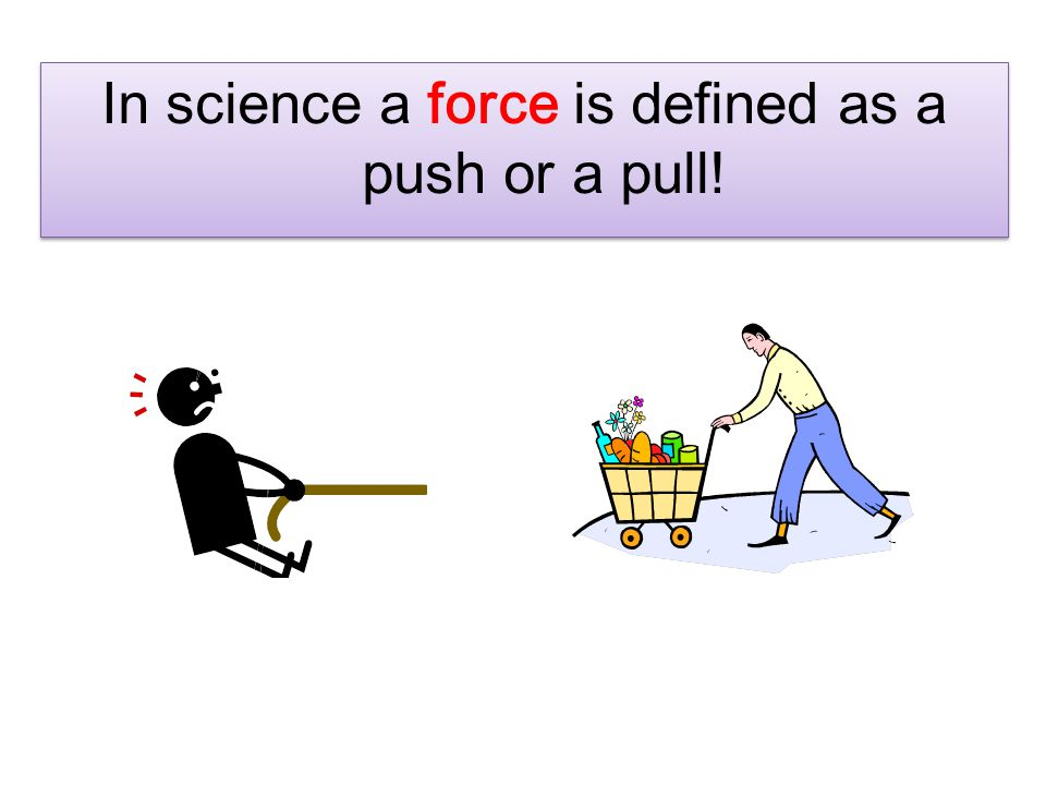 What is a force.