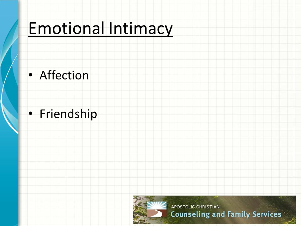 Emotional Intimacy Affection Friendship