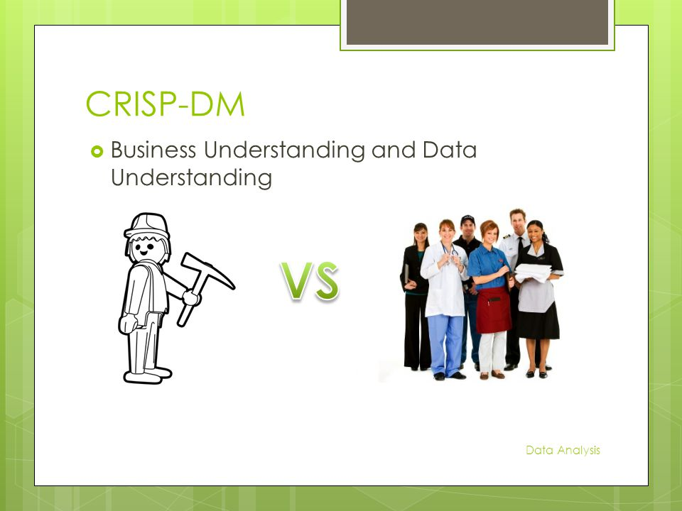 CRISP-DM  Business Understanding and Data Understanding Data Analysis