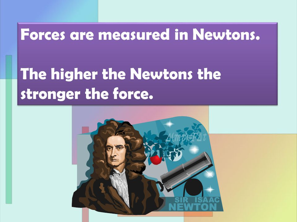 500 Newtons 1) The forces shown are PUSHING/PULLING forces.