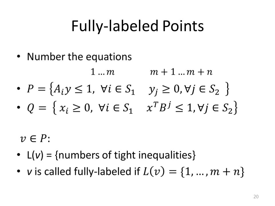 Fully-labeled Points 20