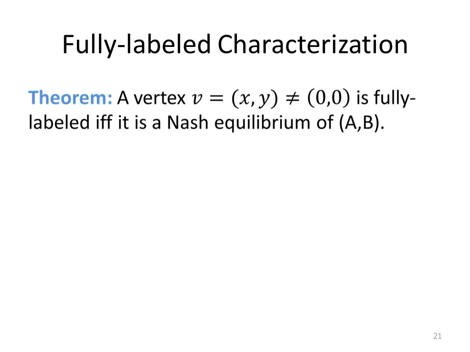 Fully-labeled Characterization 21