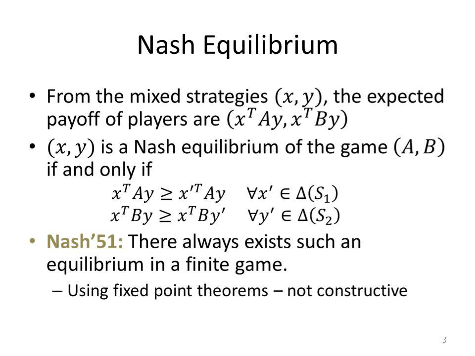 Nash Equilibrium 3