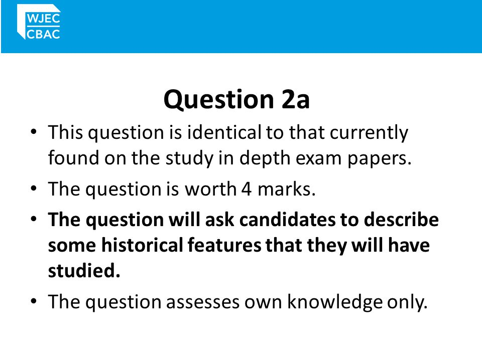 Question 2a – mark scheme You will get three or four marks for a more detailed and accurate description of the issue.