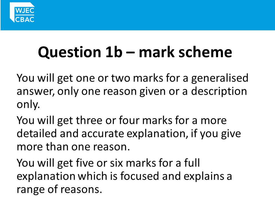 Question 1c This question is a retention of question 1(e) on the Unit 1 and Unit 2 papers used up to 2014 and is still worth 8 marks.
