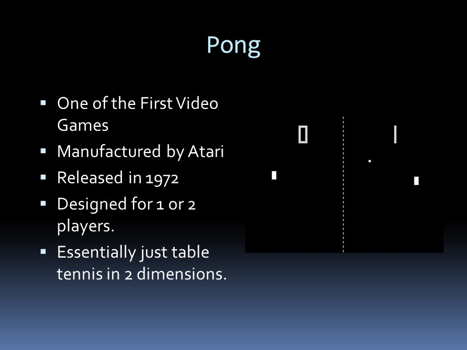 The AI of Pong  There is Logic to how the Computer moves the paddle.