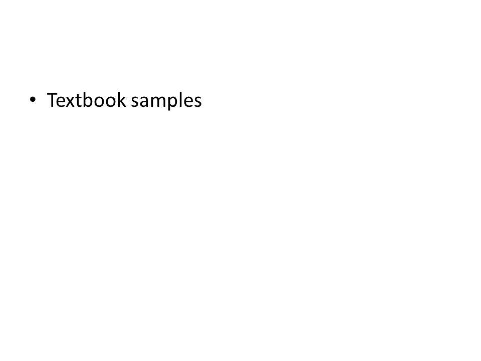 Textbook samples
