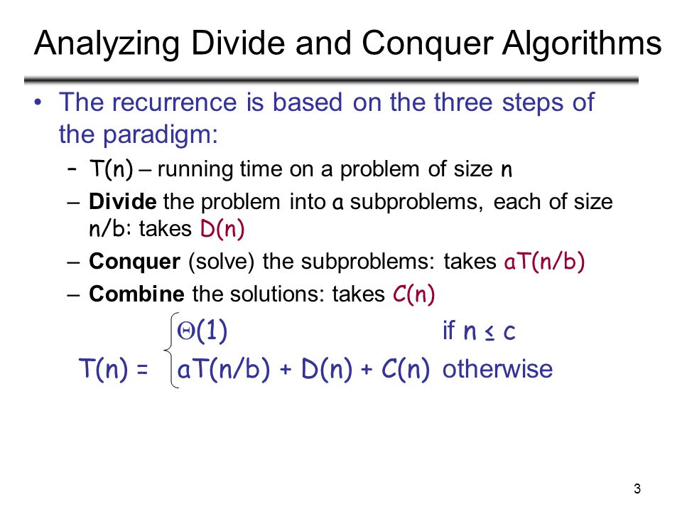 CS 477/677 - Lecture 614 Randomizing Quicksort Randomly permute the elements of the input array before sorting Modify the PARTITION procedure –First we exchange element A[p] with an element chosen at random from A[p…r] –Now the pivot element x = A[p] is equally likely to be any one of the original r – p + 1 elements of the subarray
