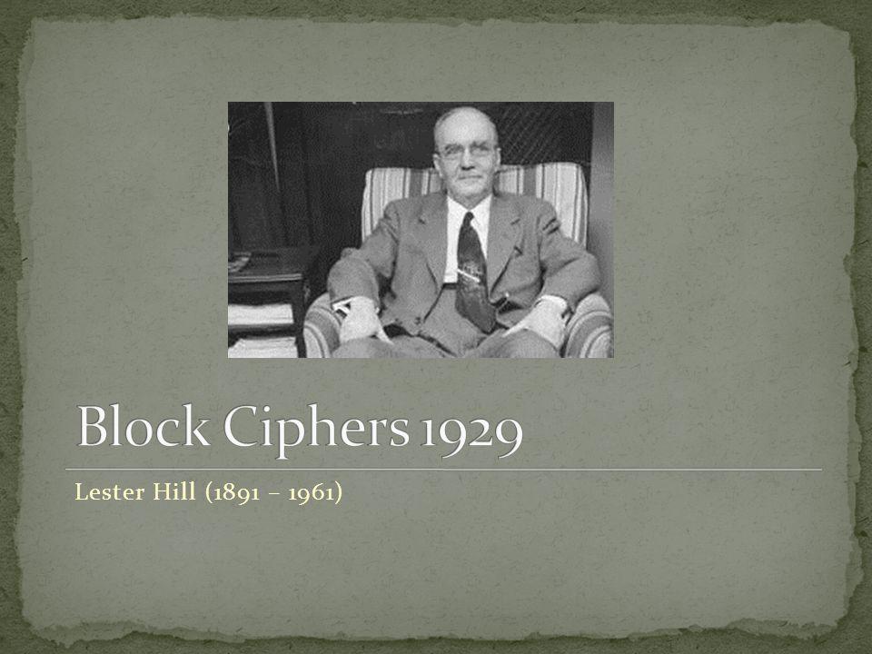 Lester Hill (1891 – 1961)
