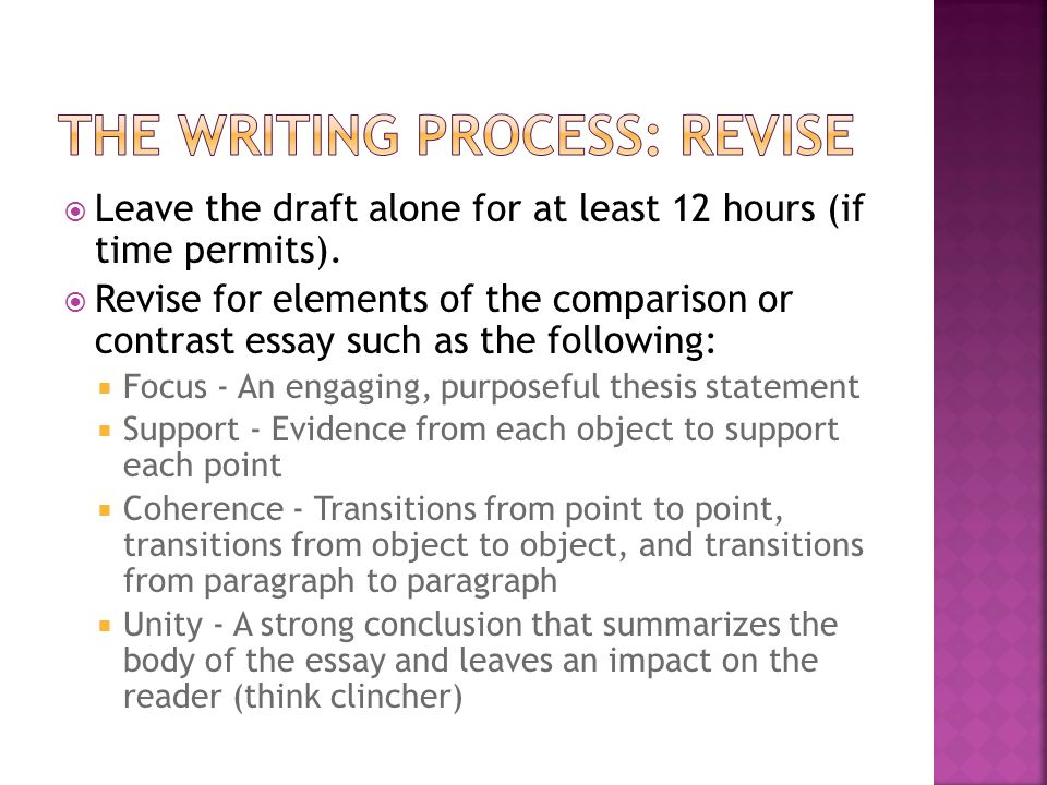  Leave the draft alone for at least 12 hours (if time permits).