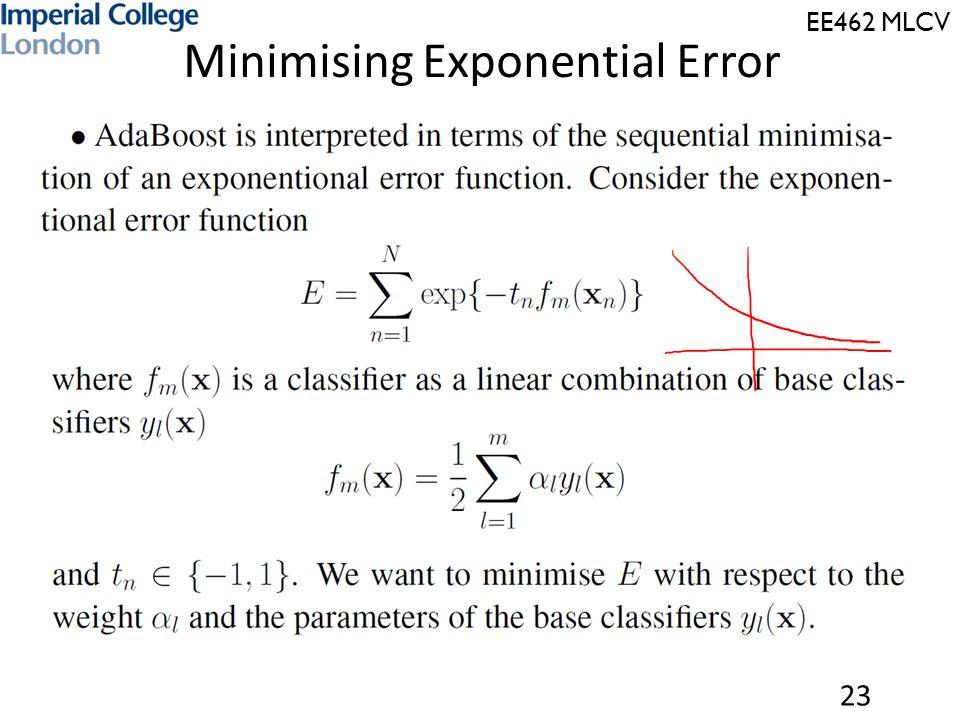 EE462 MLCV Minimising Exponential Error 23