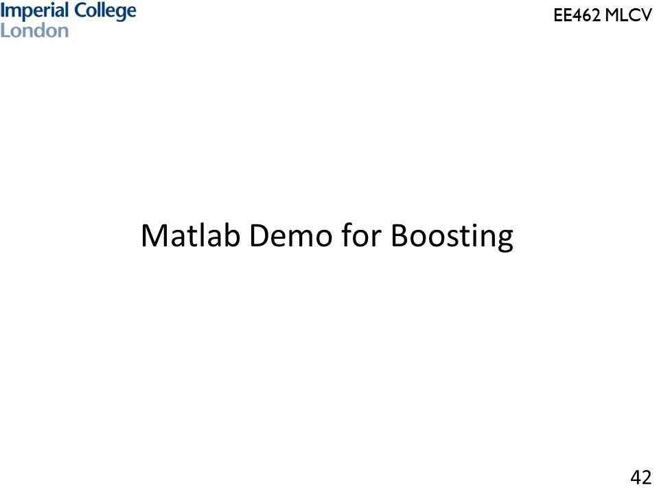 EE462 MLCV Matlab Demo for Boosting 42