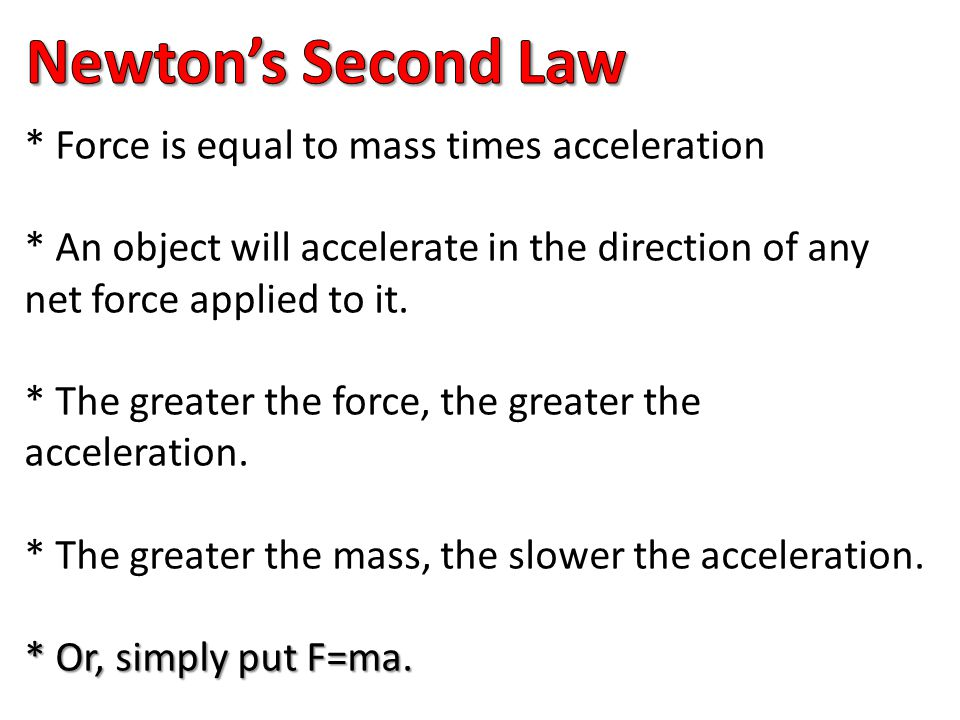 Topic: Newton's 2 nd Law (F=MA)