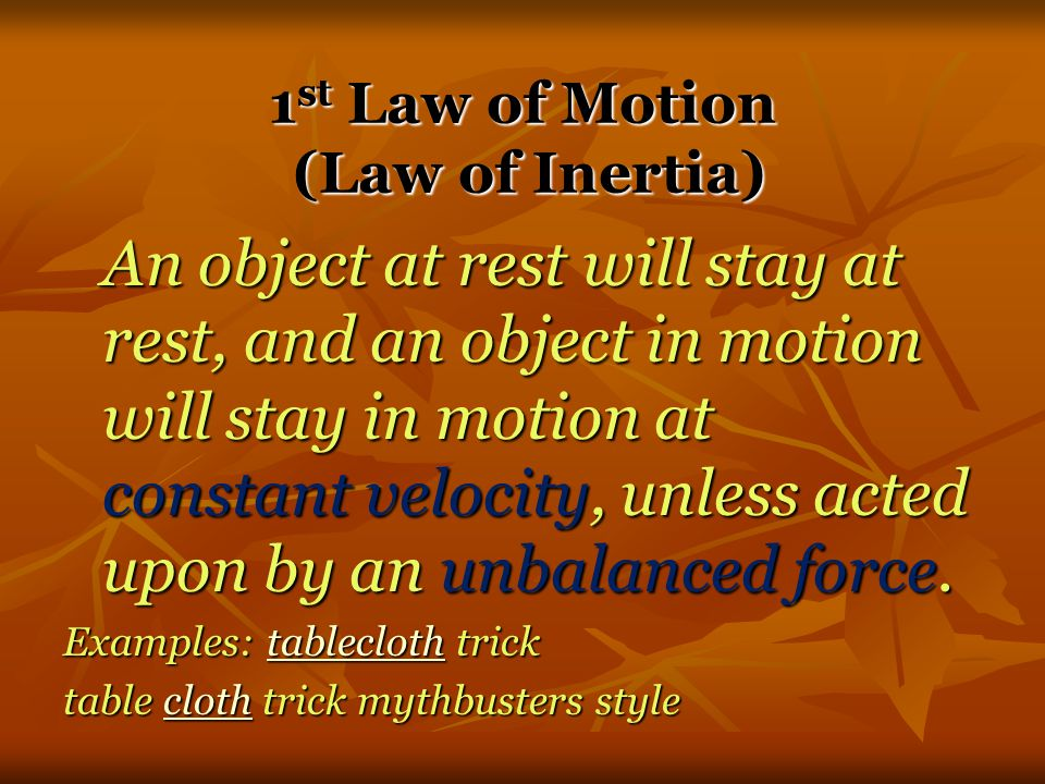 3 rd Law According to Newton, whenever objects A and B interact with each other, they exert forces upon each other.