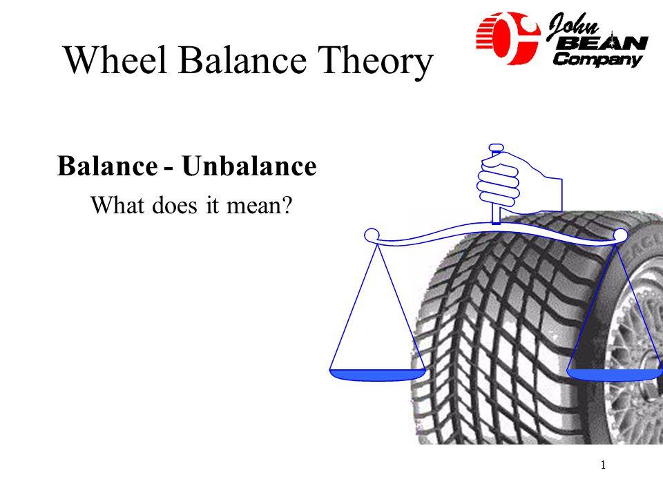 1 Wheel Balance Theory Balance - Unbalance What does it mean?