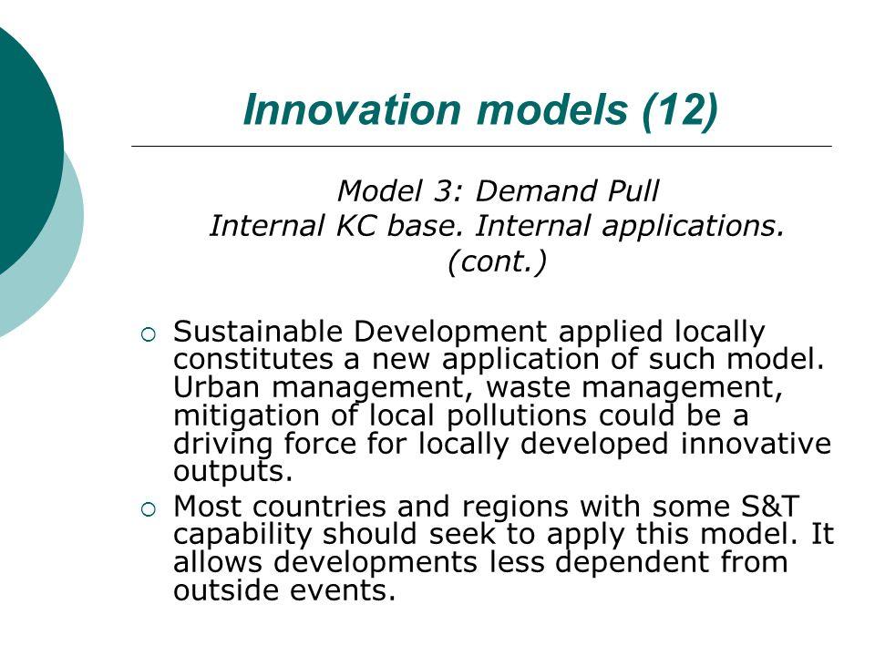 Innovation models (12) Model 3: Demand Pull Internal KC base.