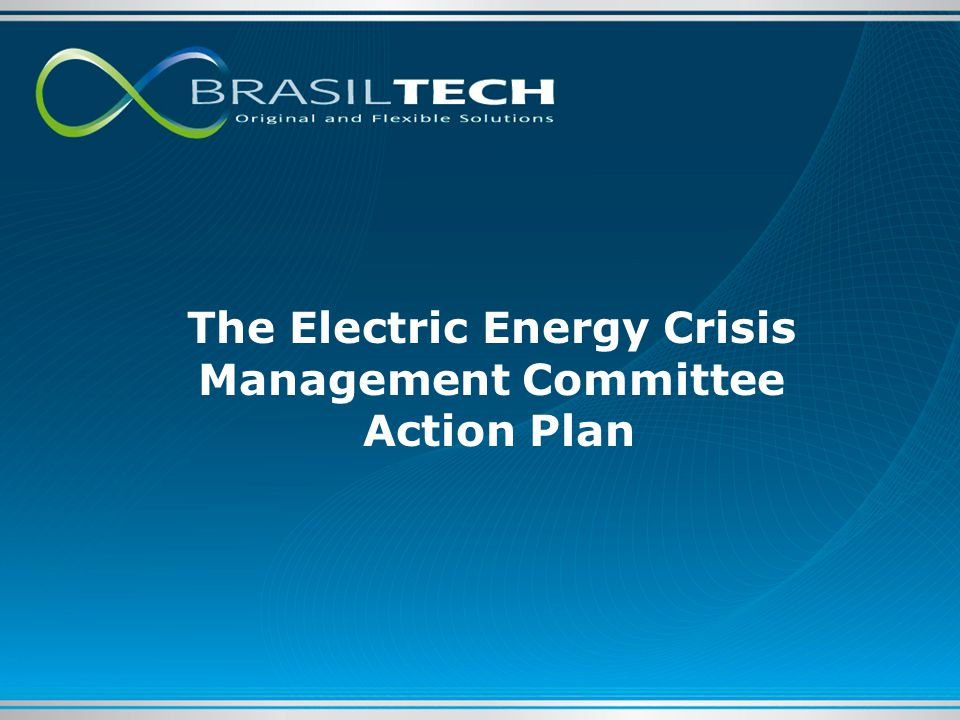 The Electric Energy Crisis Management Committee Action Plan