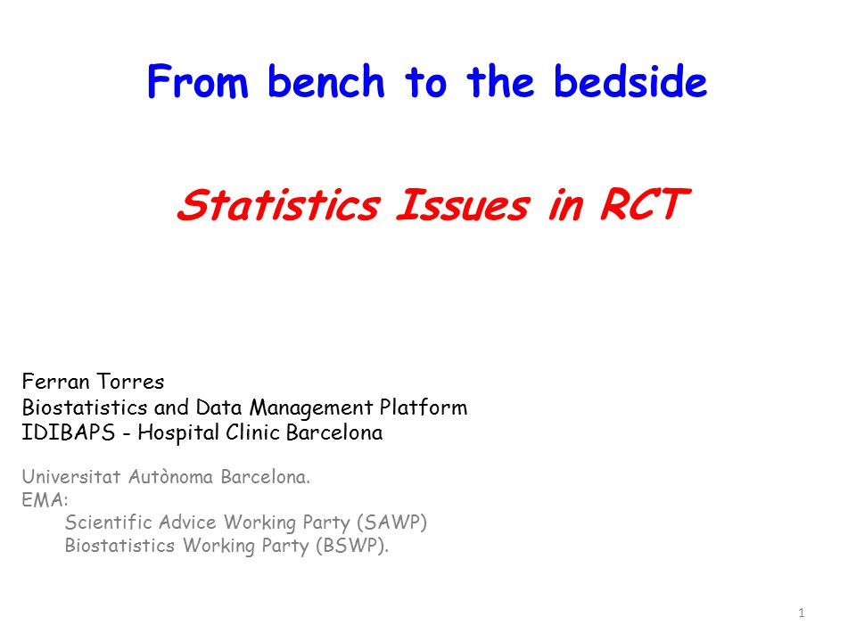 12 Today's talk is on statistics