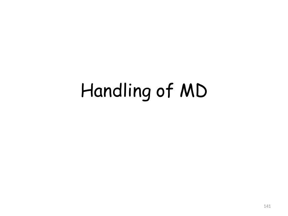 Handling of MD 141