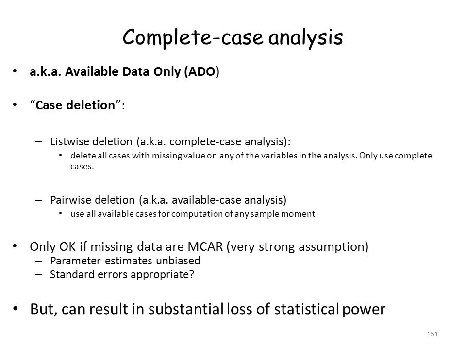 Complete-case analysis a.k.a.