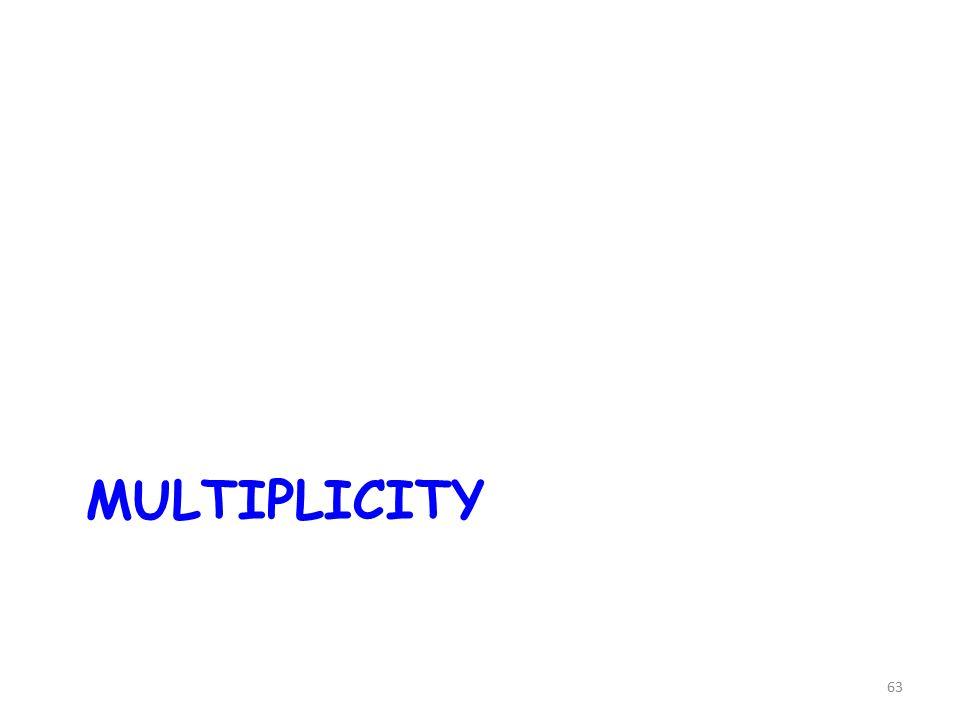63 MULTIPLICITY