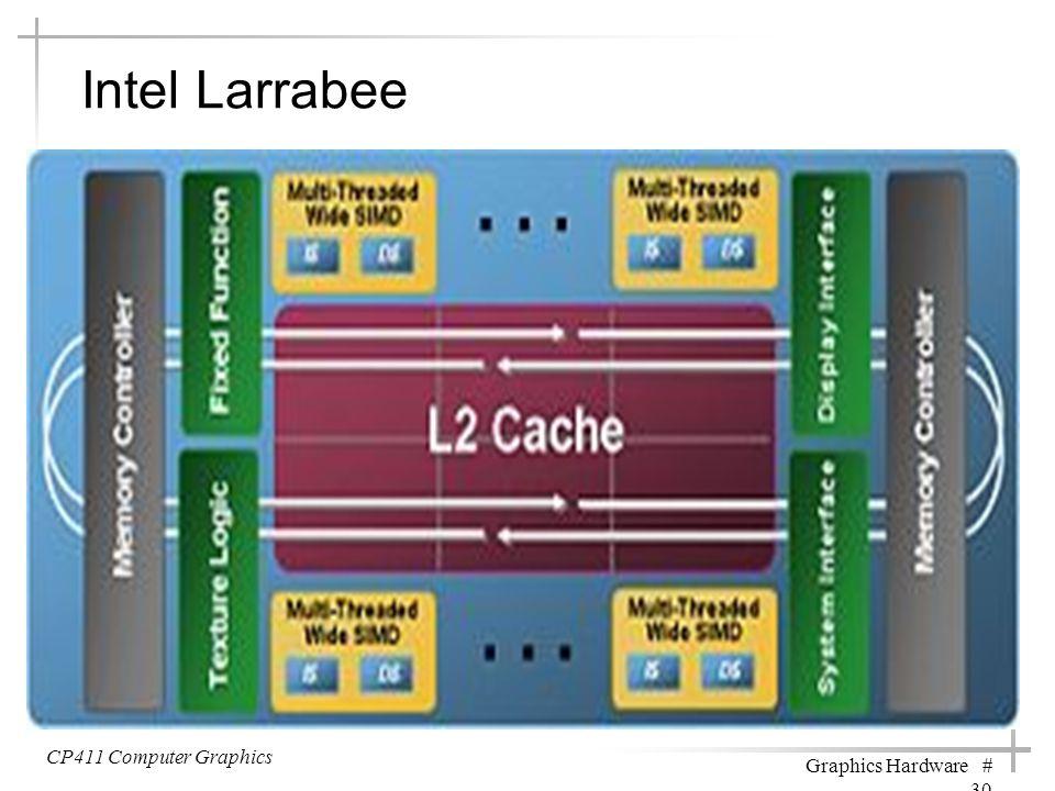 Intel Larrabee CP411 Computer Graphics Graphics Hardware # 30
