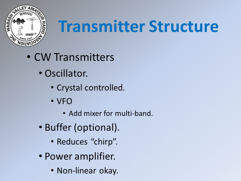 CW Transmitters Transmitter Structure