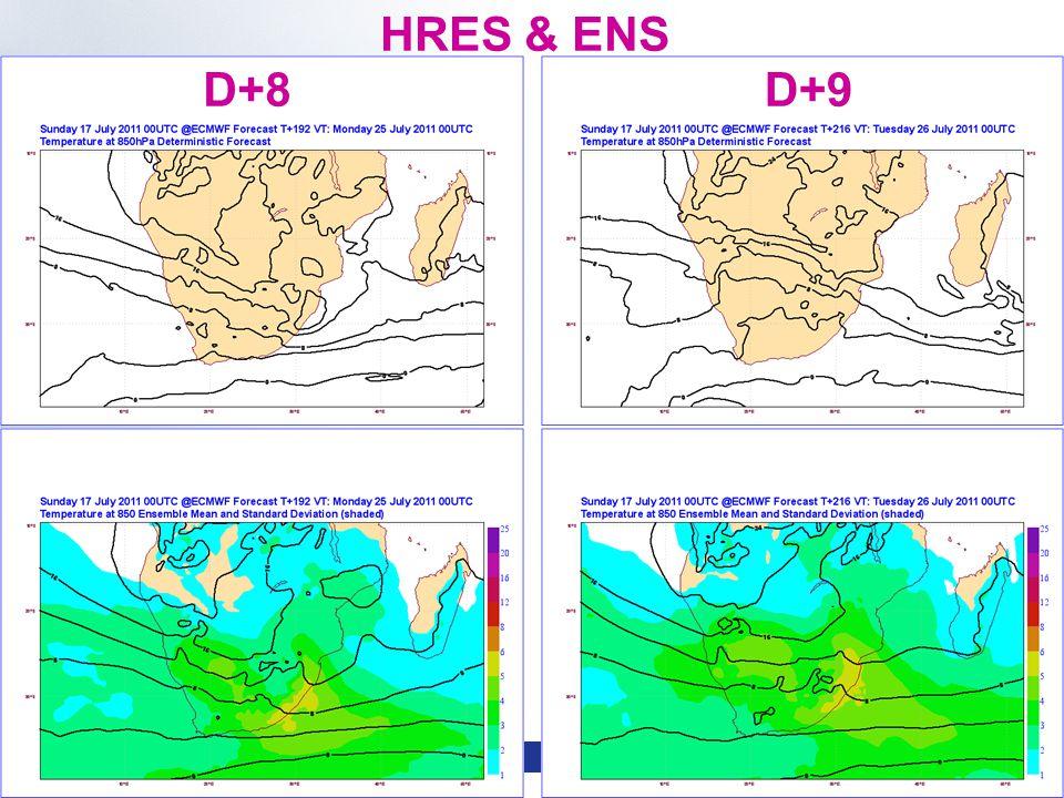 Slide 12 WMO Macao – April 2013 © ECMWF HRES & ENS D+8D+9