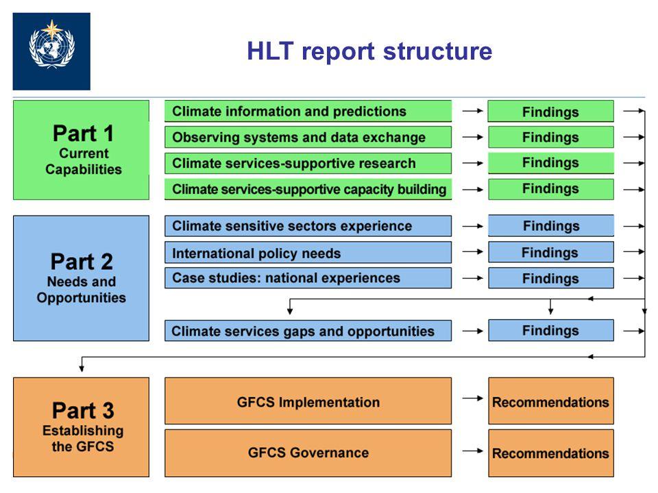 11 HLT report structure