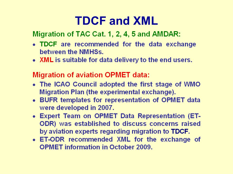 TDCF and XML